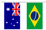 A string of World Cup 2014 bunting, rectangular, 10 metre